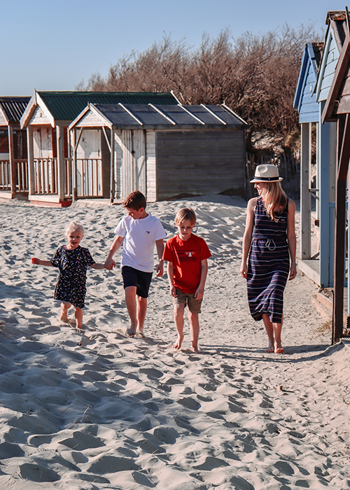 Sarah-Jane and family wear the Summer Shop collection while on their great British staycation at the beach