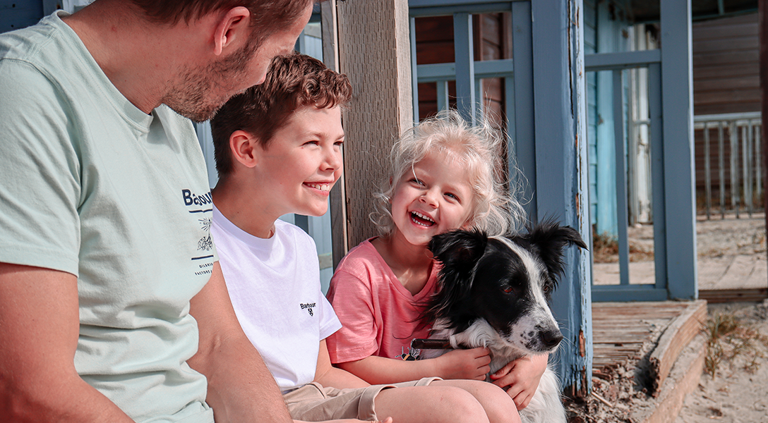 Matthew and family wear the Barbour SS21 collection for their great British staycation at the beach
