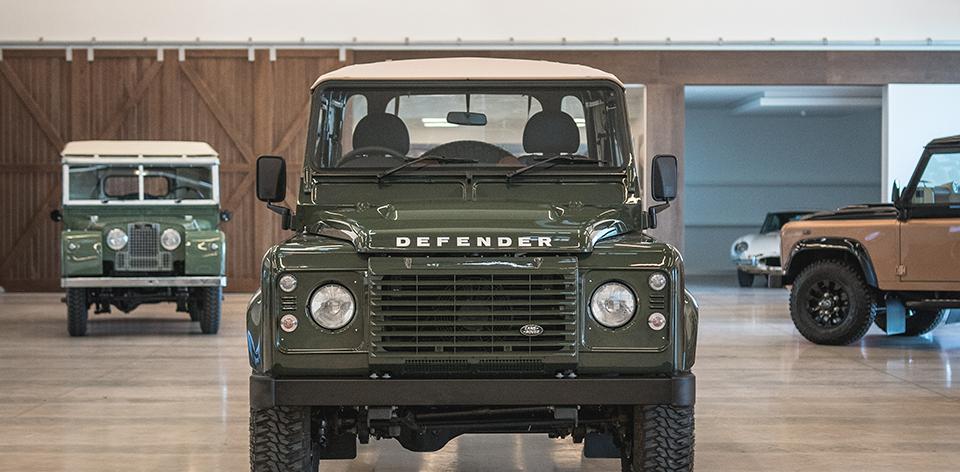 Custom Barbour x Land Rover Defender