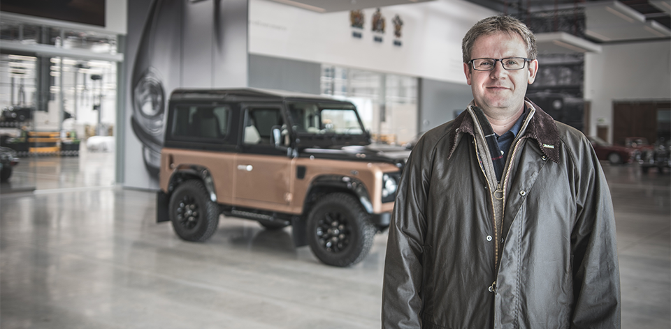 Barbour x Land Rover Defender with Gregory King