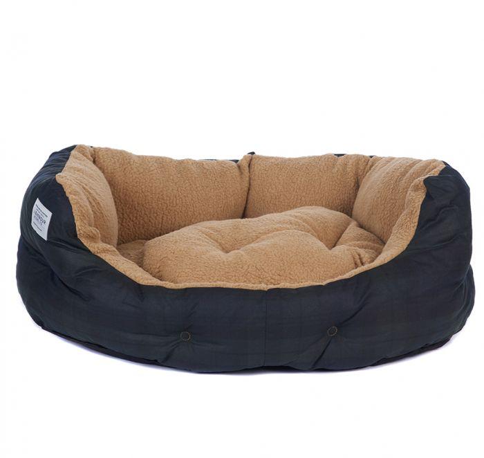 Barbour 30in Tartan Wax Dog Bed
