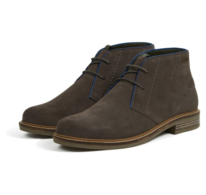 Barbour Readhead Chukka Boots - Grey Suede