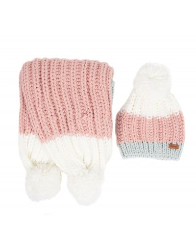Barbour Colour Block Hat & Scarf Gift Set