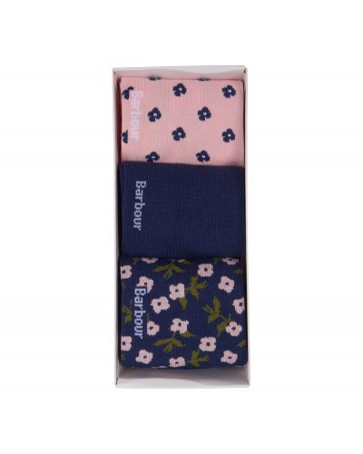 Barbour Floral and Plain Sock Gift Set