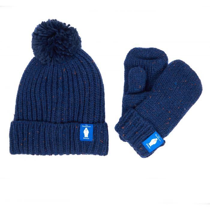 Barbour x The Snowman Ashton Knitted Beanie & Mitt Gift Set