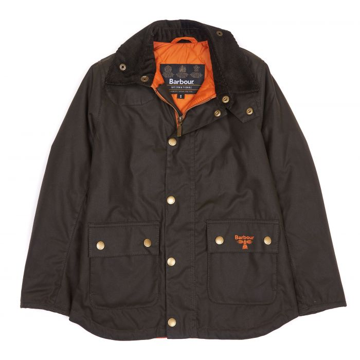 Barbour Stybarrow Boys' Waxed Cotton Jacket