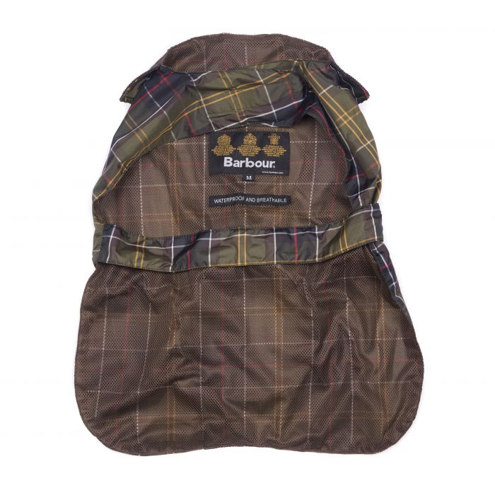 Barbour Tartan Waterproof Pack Away Dog Coat