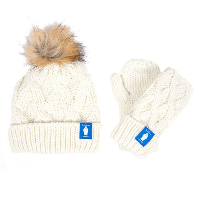 Barbour x The Snowman Chloe Knitted Beanie & Mitt Gift Set