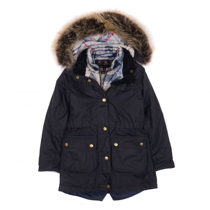 Barbour Girls' Dartford Waxed Cotton Jacket