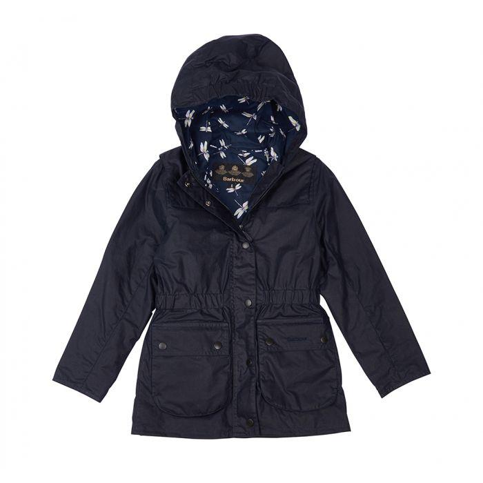 Barbour Girls' Hamlet Waxed Cotton Jacket