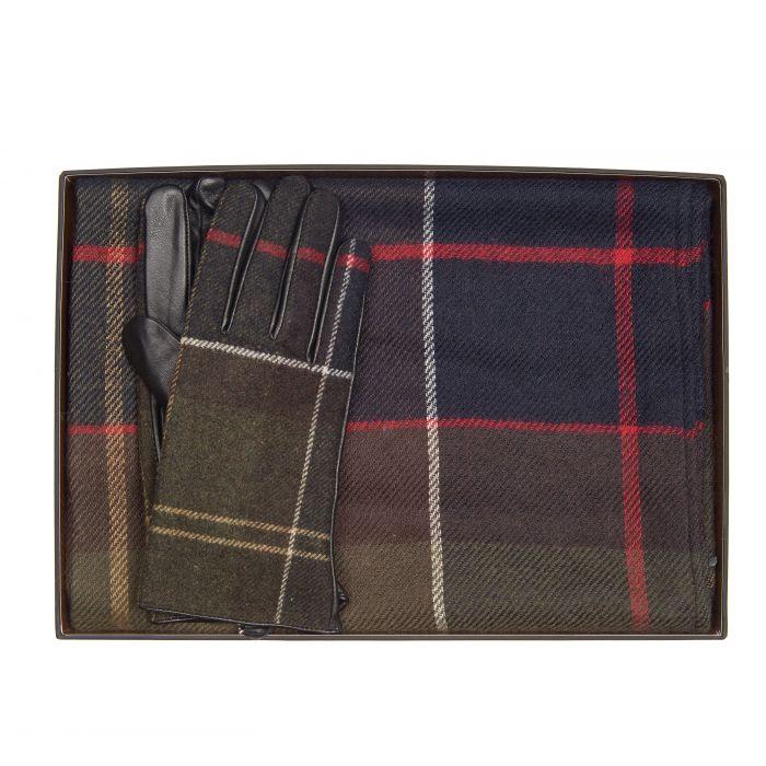 Barbour Tartan Scarf & Gloves Gift Box Set