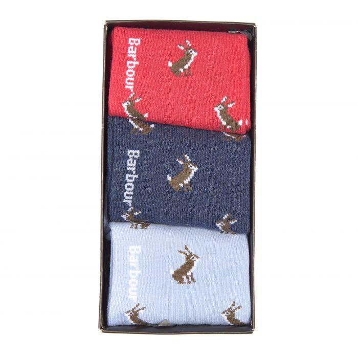 Barbour Rabbit Motif Sock Gift Box Set