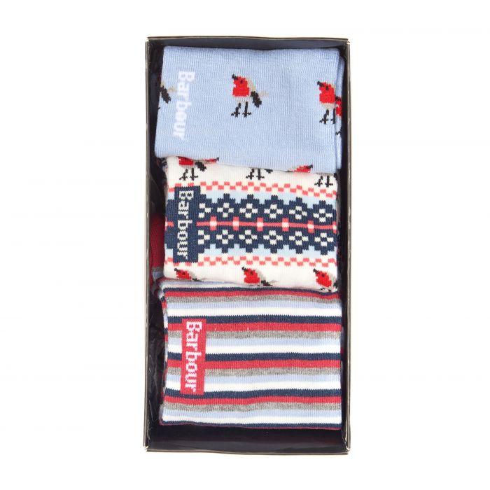 Barbour Robin Christmas Sock Gift Box Set