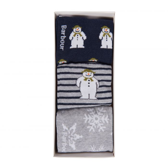 Barbour x The Snowman Meadow Sock Gift Set