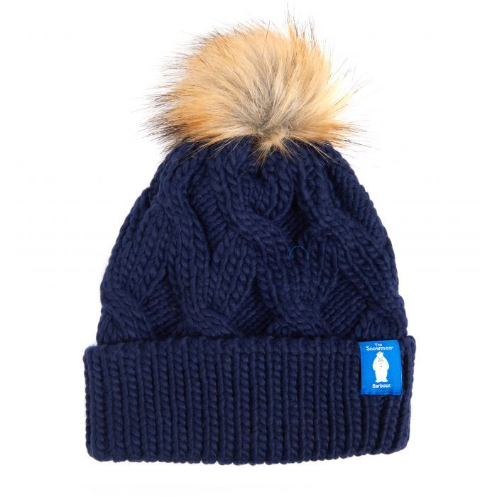 Barbour x The Snowman Lowland Knitted Beanie Hat