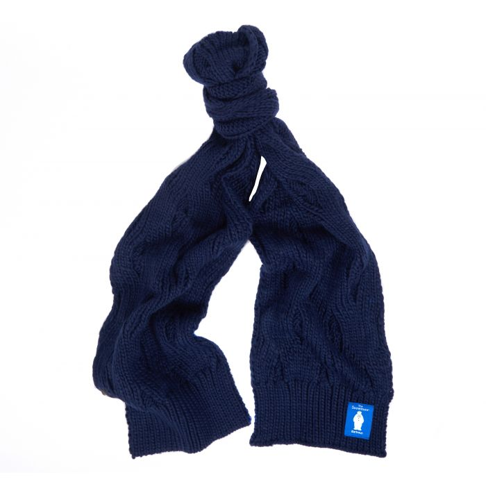 Barbour x The Snowman Lowland Knitted Scarf