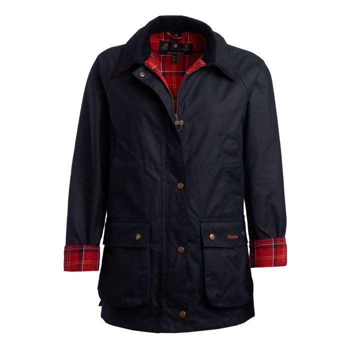 Barbour Cardinal Tartan Acorn Waxed Cotton Jacket