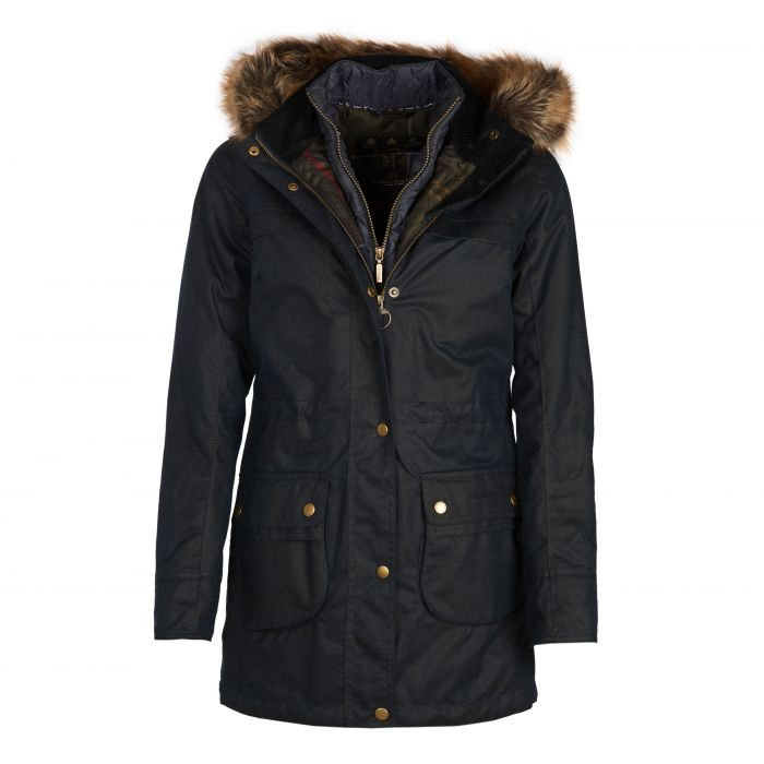 Barbour Dartford Waxed Cotton Parka Jacket