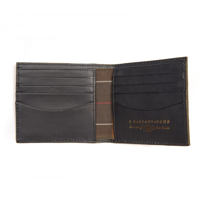 107b135e ... Barbour Grain Leather Billfold Wallet In Gift Box