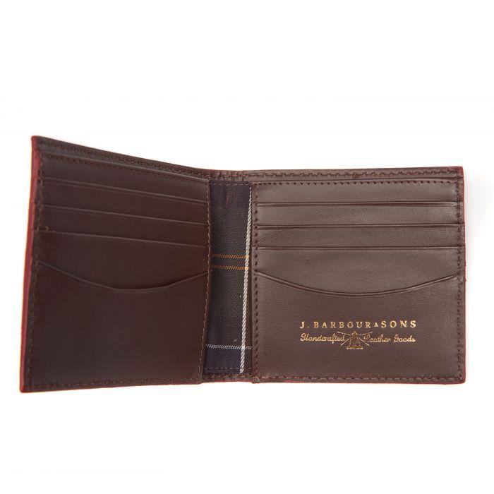 Barbour Grain Leather Billfold Wallet In Gift Box