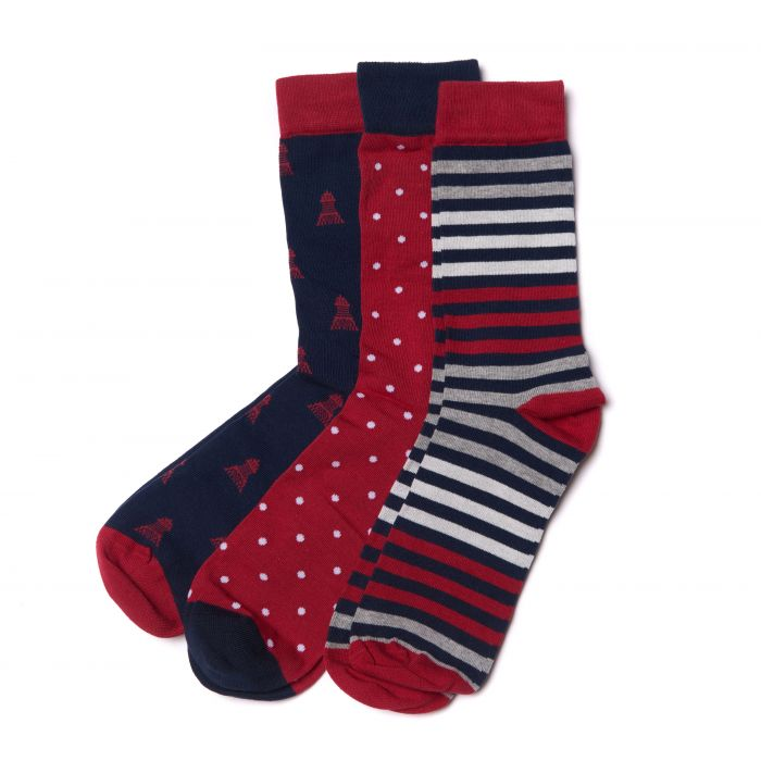 Barbour Beacon Spot Socks Gift Set