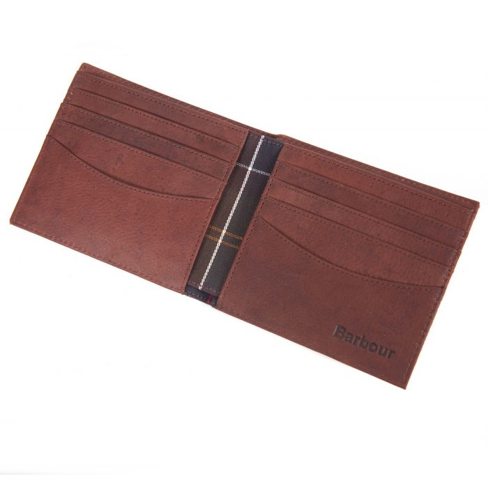 Barbour Mixed Tartan Leather Billfold Gift Box