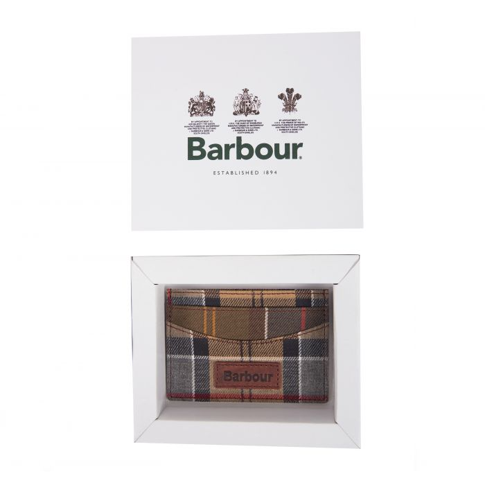 Barbour Mixed Tartan Card Holder Gift Box