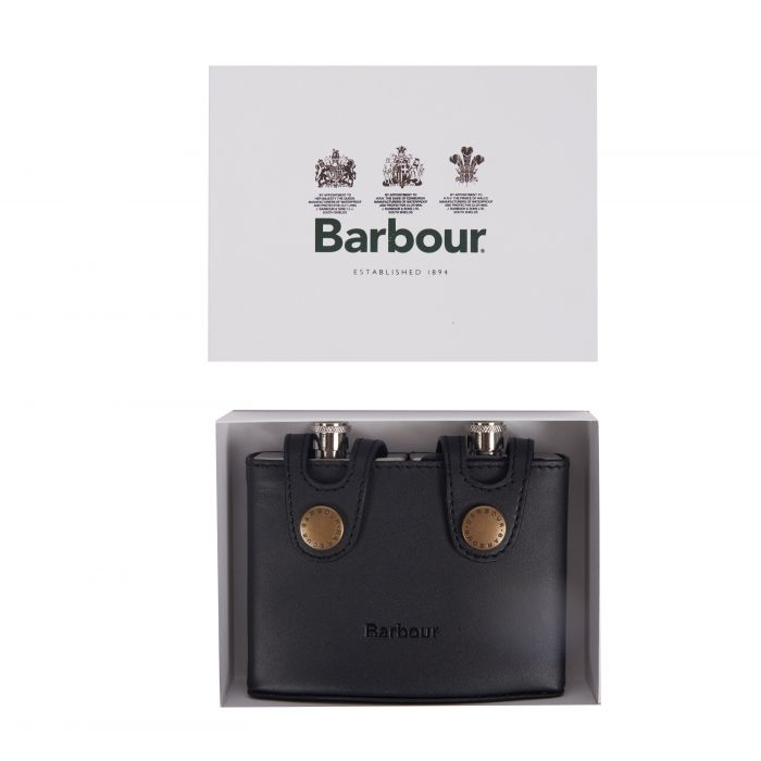 Barbour Double Hipflask Gift Box