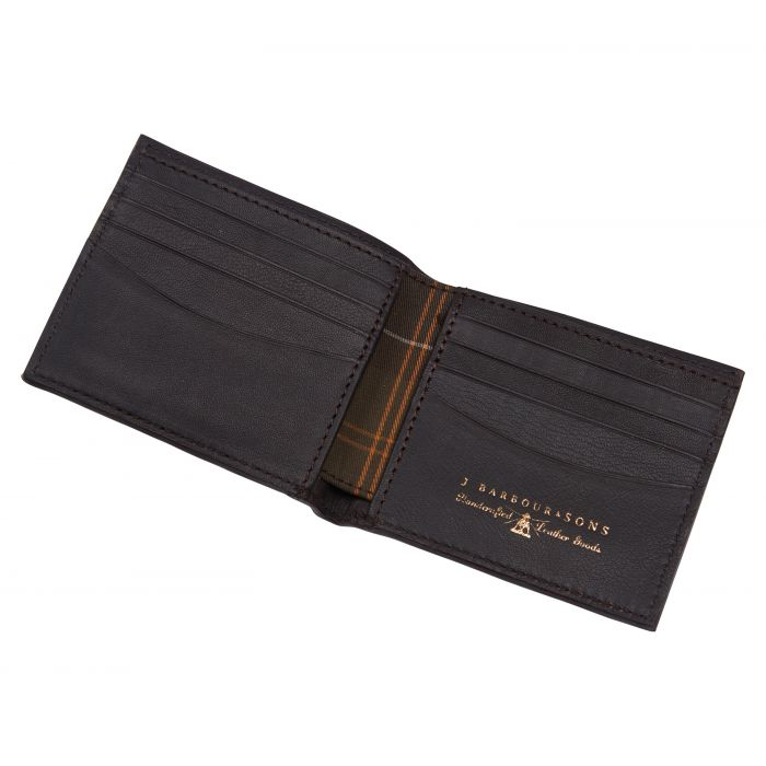 Barbour Leather Wallet and Cufflinks Gift Set