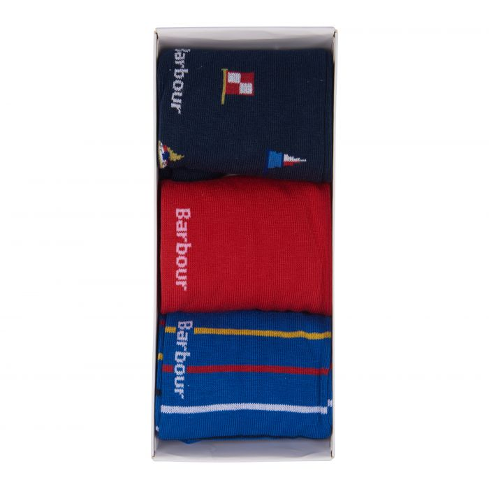 Barbour Flag and Striped Socks Gift Set