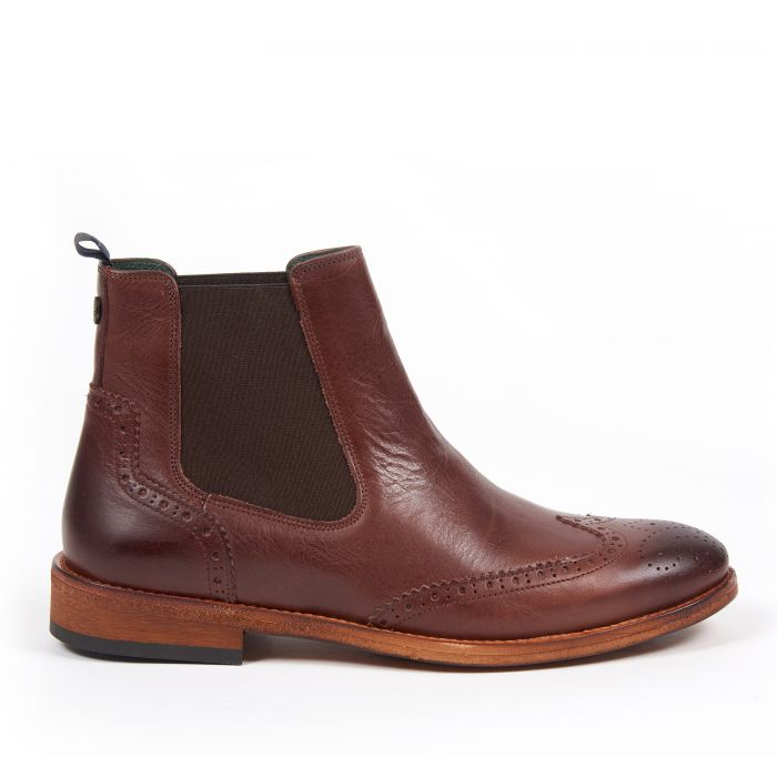 Barbour Raunds Wing Cap Brogue Chelsea Boots