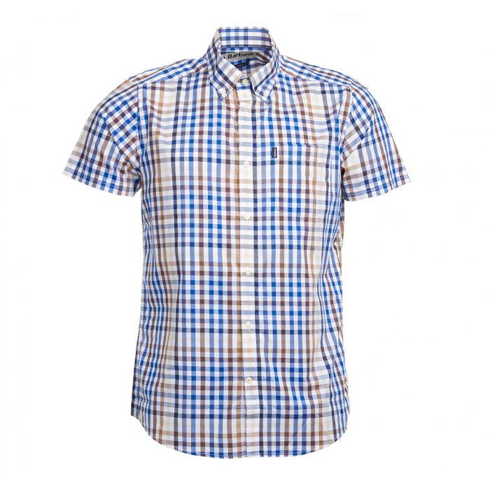 Barbour Tattersall 6 Short Sleeved Tailored Shirt