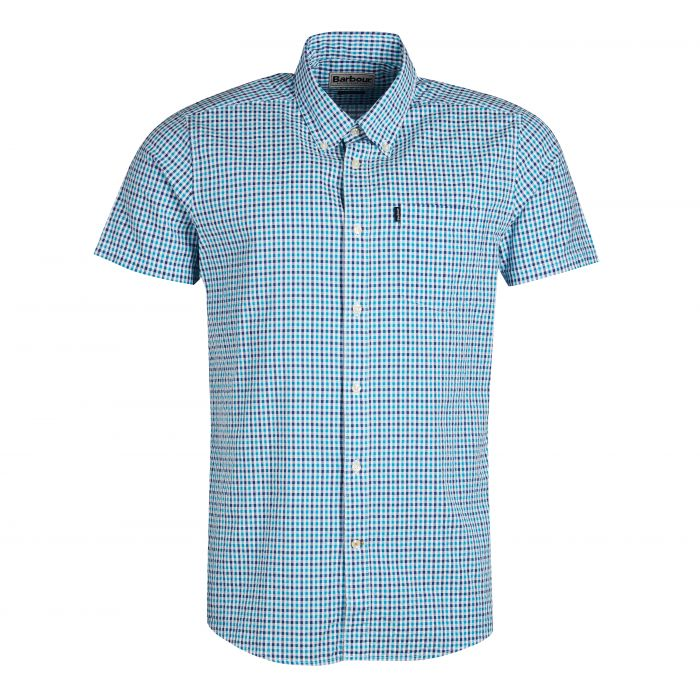Barbour Seersucker 1 Short Sleeved Tailored Fit Shirt