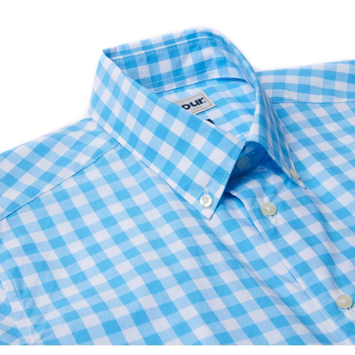 Barbour Gingham Short Sleeved Tailored Shirt