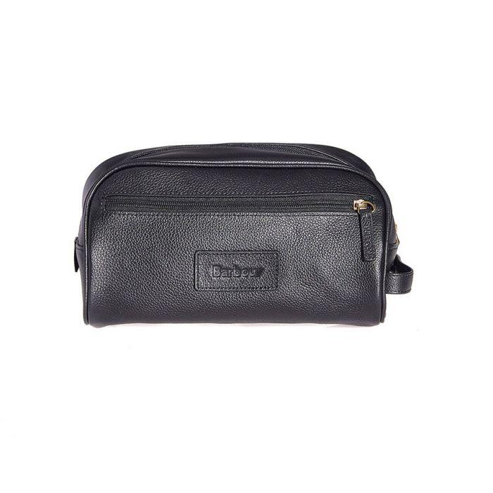 Barbour Leather Washbag