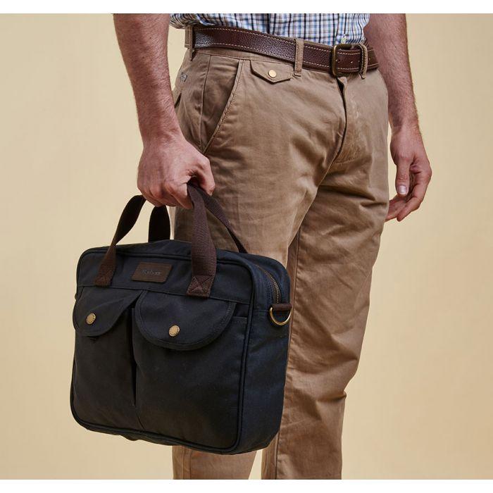 Barbour Wax Longthorpe Laptop Bag