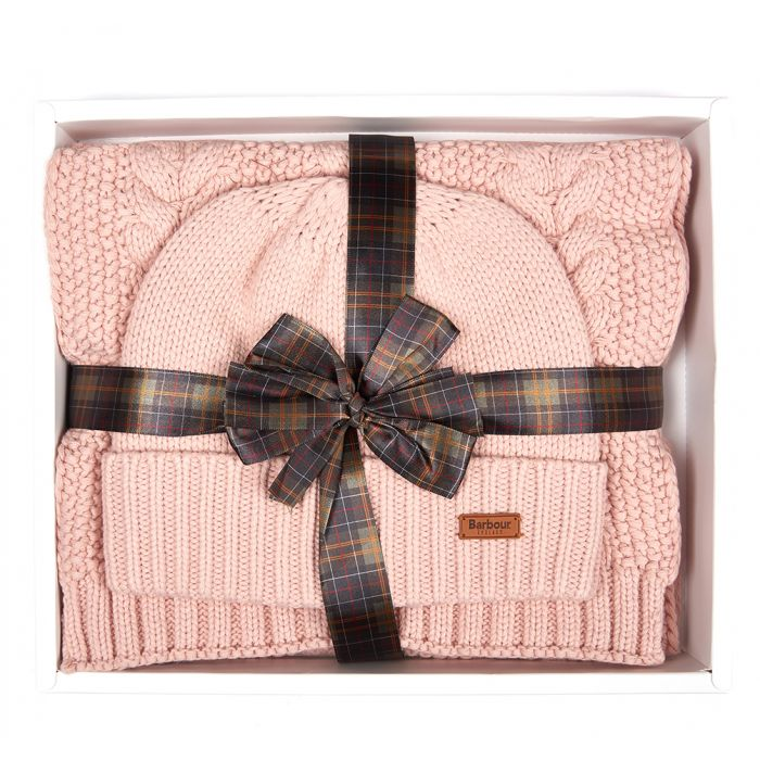Barbour Cable Hat & Scarf Set