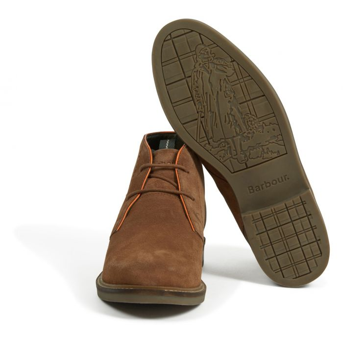 Barbour Readhead Chukka Boots - Cola Suede