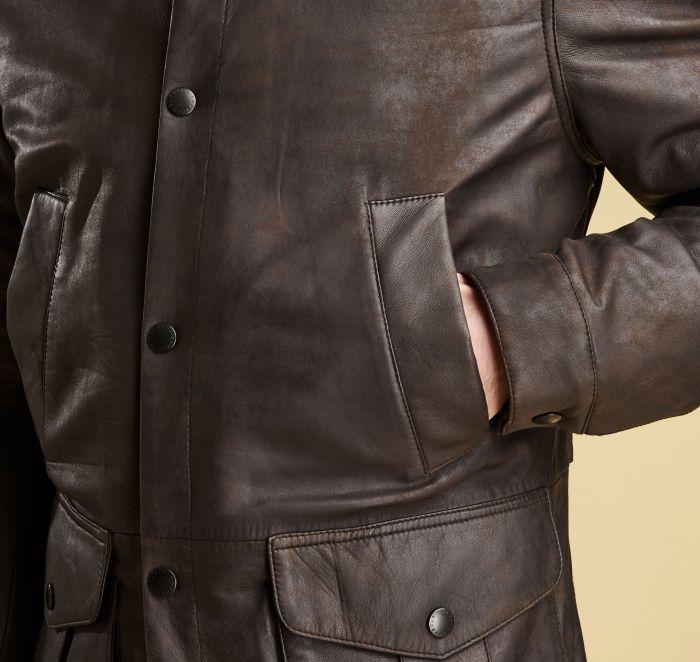 997d2589f Barbour Thomas Leather Jacket   Barbour