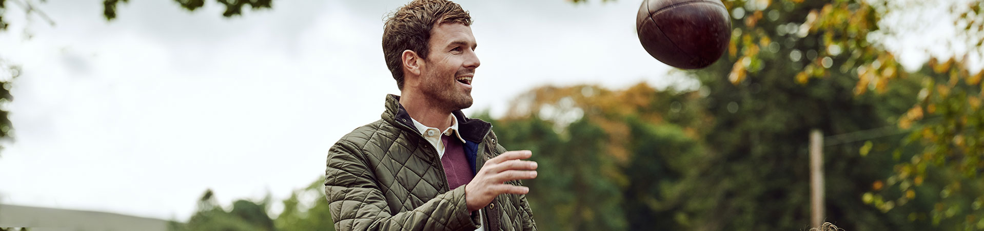 The Barbour Rugby Collection styled on model