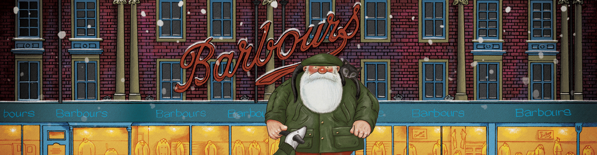 Barbour Christmas: Father Christmas in 'Thanks Mrs C'