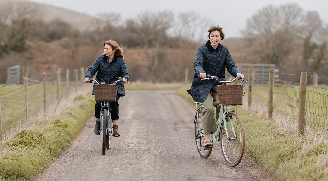 Lauren Yates and Brittany Bathgate styling mdoern country in the Purbeck Hills