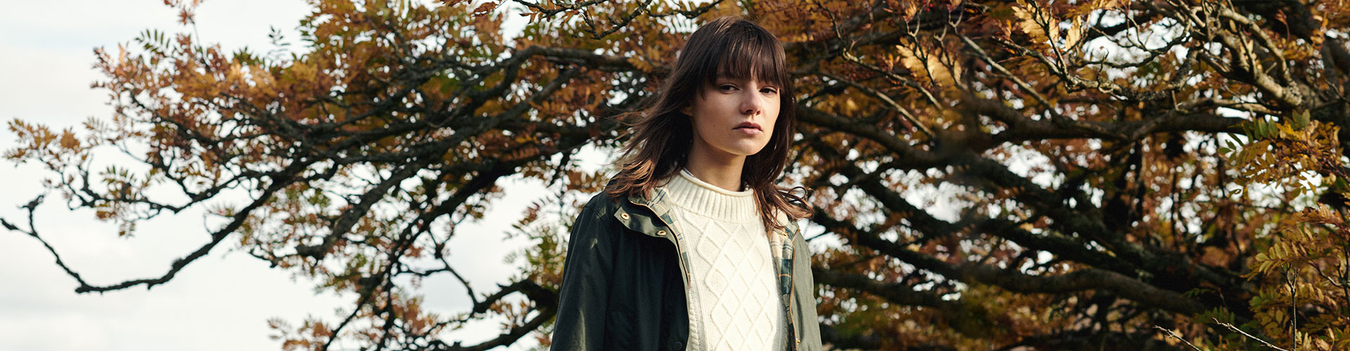 The Barbour Modern Country womenswear collection styled on model